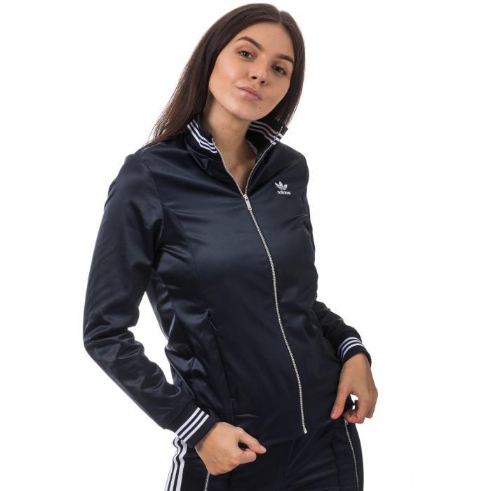Adidas Veste de survêtement femme D2M Bleu marine pas